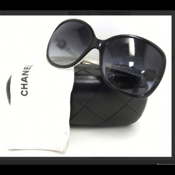 642e72d400f91 CHANEL Accessories - Chanel Black White 5174 Sunglasses with Case